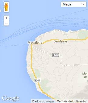 Mapa do município de Madalena