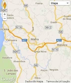 Mapa do município de Mafra