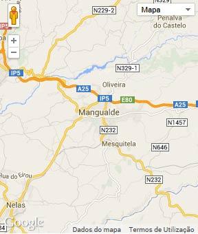 Mapa do município de Mangualde