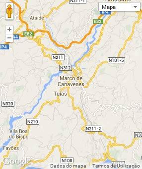 Mapa do município de Marco de Canaveses