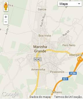 Mapa do município de Marinha Grande
