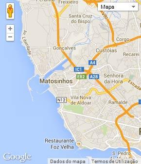 Mapa do município de Matosinhos