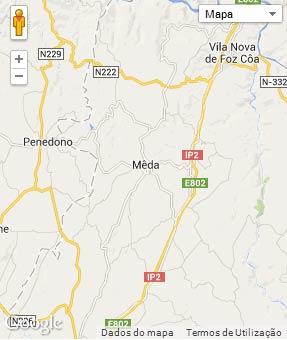 Mapa do município de Meda