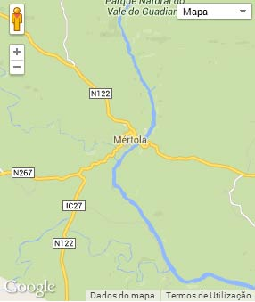 Mapa do município de Mértola