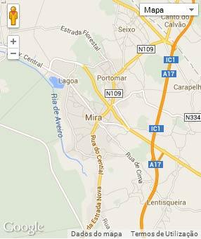 Mapa do município de Mira