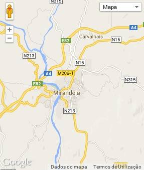 Mapa do município de Mirandela