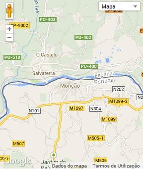 Mapa do município de Monção