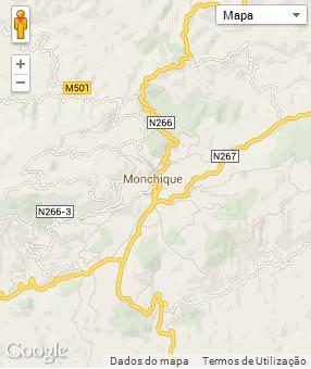 Mapa do município de Monchique
