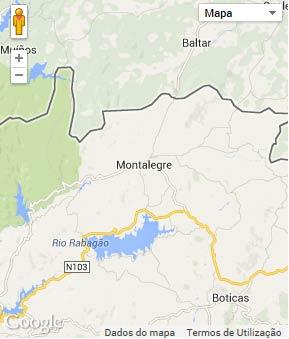 Mapa do município de Montalegre