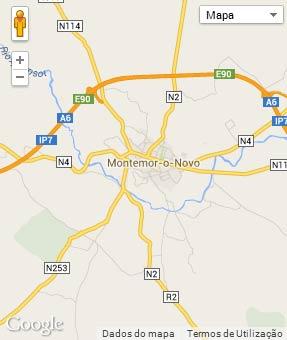 Mapa do município de Montemor-o-Novo