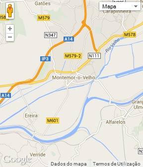 Mapa do município de Montemor-o-Velho