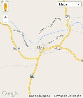Mapa do município de Mora