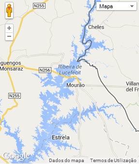 Mapa do município de Mourão