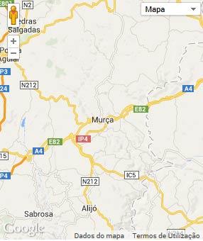 Mapa do município de Murça