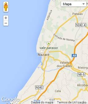 Mapa do município de Nazaré