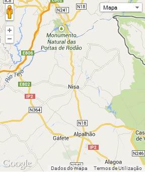 Mapa do município de Nisa