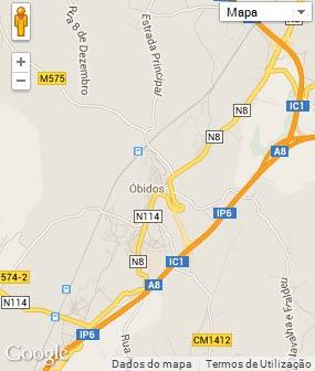 Mapa do município de Óbidos