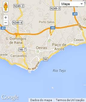 Mapa do município de Oeiras