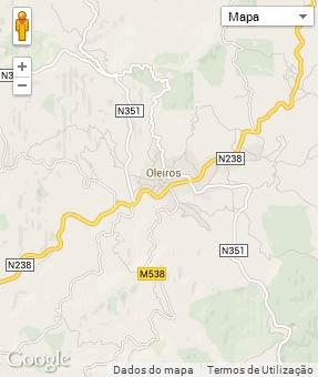 Mapa do município de Oleiros