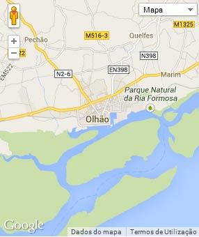 Mapa do município de Olhão