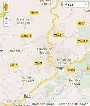 Mapa do município de Oliveira do Hospital