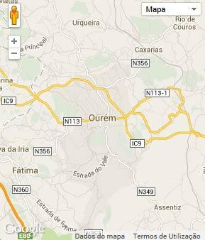 Mapa do município de Ourém