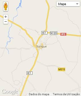 Mapa do município de Ourique