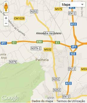 Mapa do município de Palmela