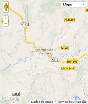 Mapa do município de Pampilhosa da Serra