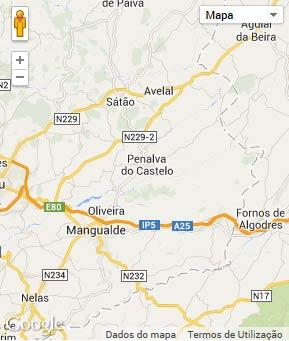 Mapa do município de Penalva do Castelo