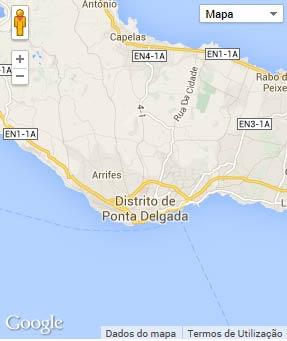 Mapa do município de Ponta Delgada