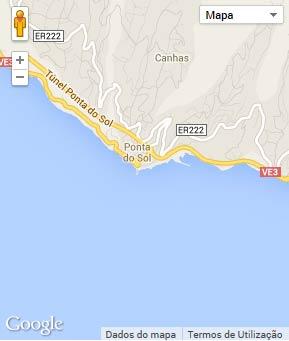 Mapa do município de Ponta do Sol