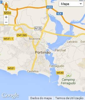 Mapa do município de Portimão