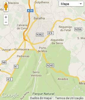 Mapa do município de Porto de Mós