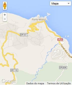 Mapa do município de Porto Moniz