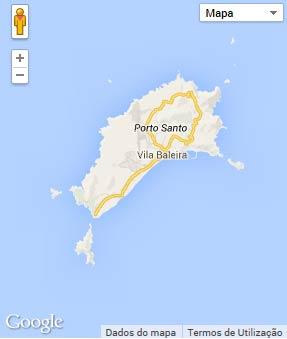 Mapa do município de Porto Santo