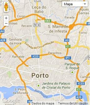 Mapa do município de Porto