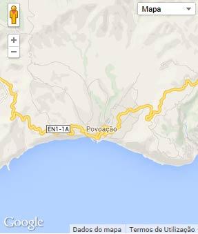Mapa do município de Povoação