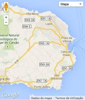 Mapa do município de Praia da Vitória