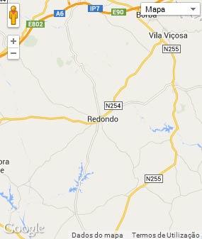 Mapa do município de Redondo