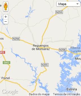 Mapa do município de Reguengos de Monsaraz