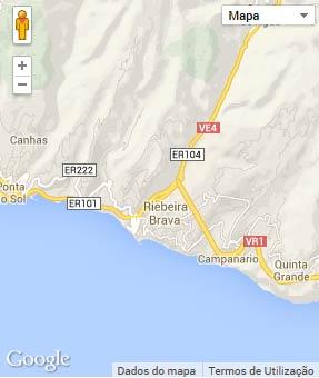 Mapa do município de Ribeira Brava