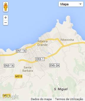 Mapa do município de Ribeira Grande