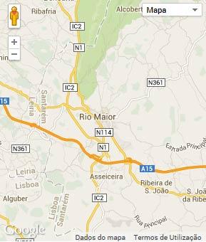 Mapa do município de Rio Maior