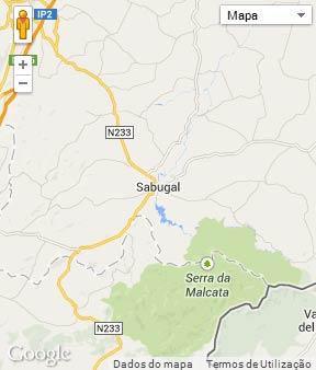 Mapa do município de Sabugal