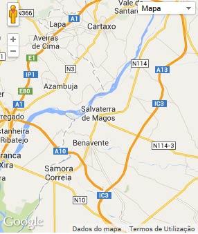 Mapa do município de Salvaterra de Magos