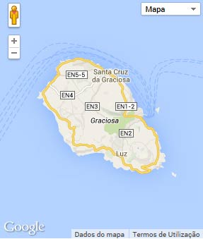 Mapa do município de Santa Cruz da Graciosa