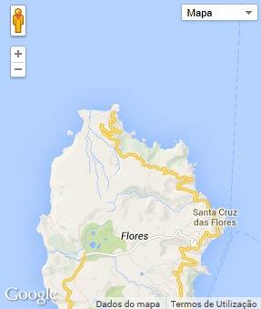 Mapa do município de Santa Cruz das Flores