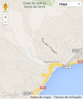 Mapa do município de Santa Cruz