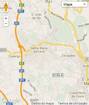 Mapa do município de Santa Maria da Feira